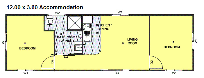 lanwood accomodation 12x3.6