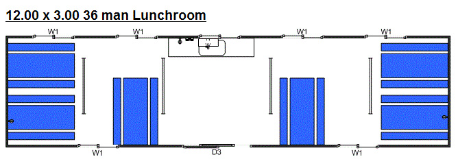12x3 lunchroom